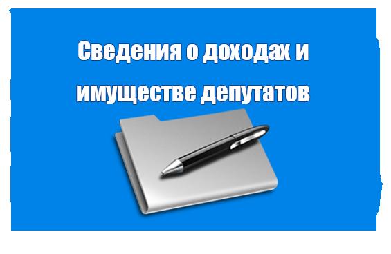 Сведения о доходах и имуществе депутатов